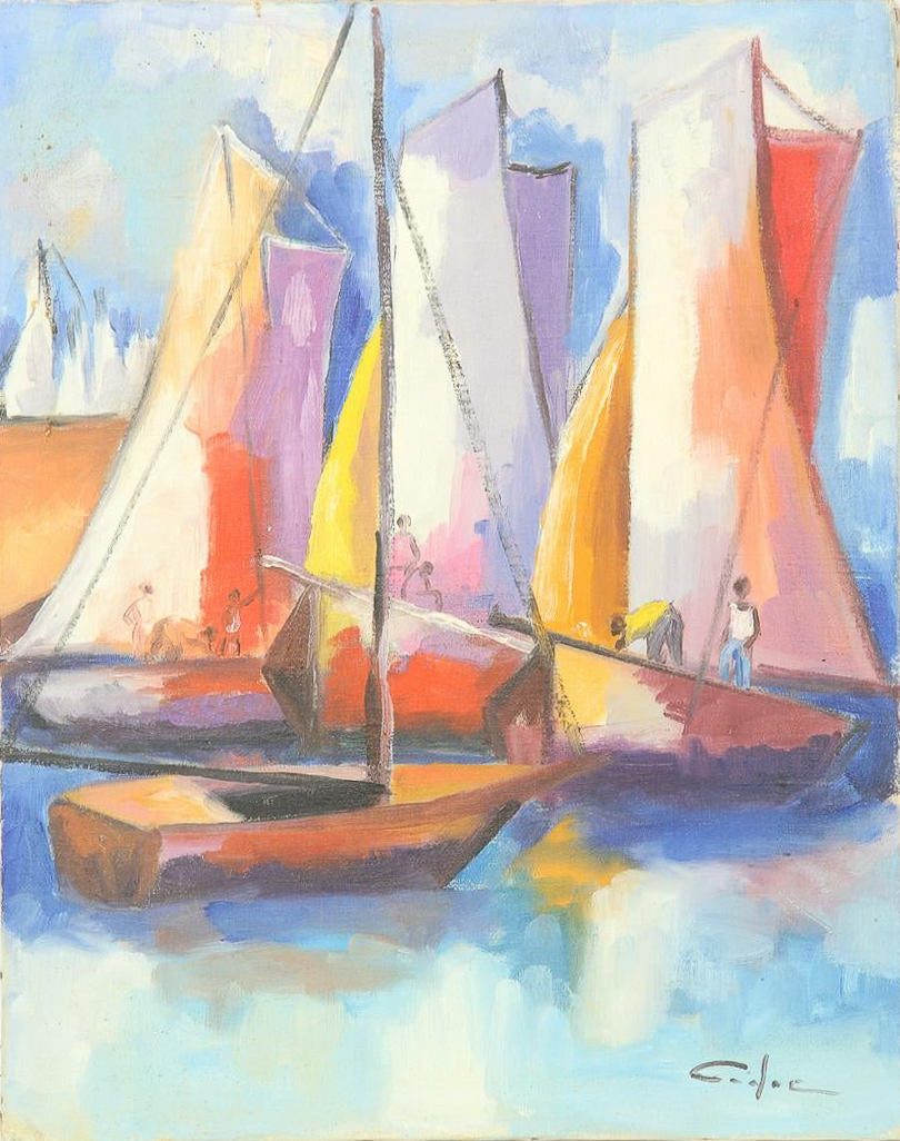 Three Sailboats