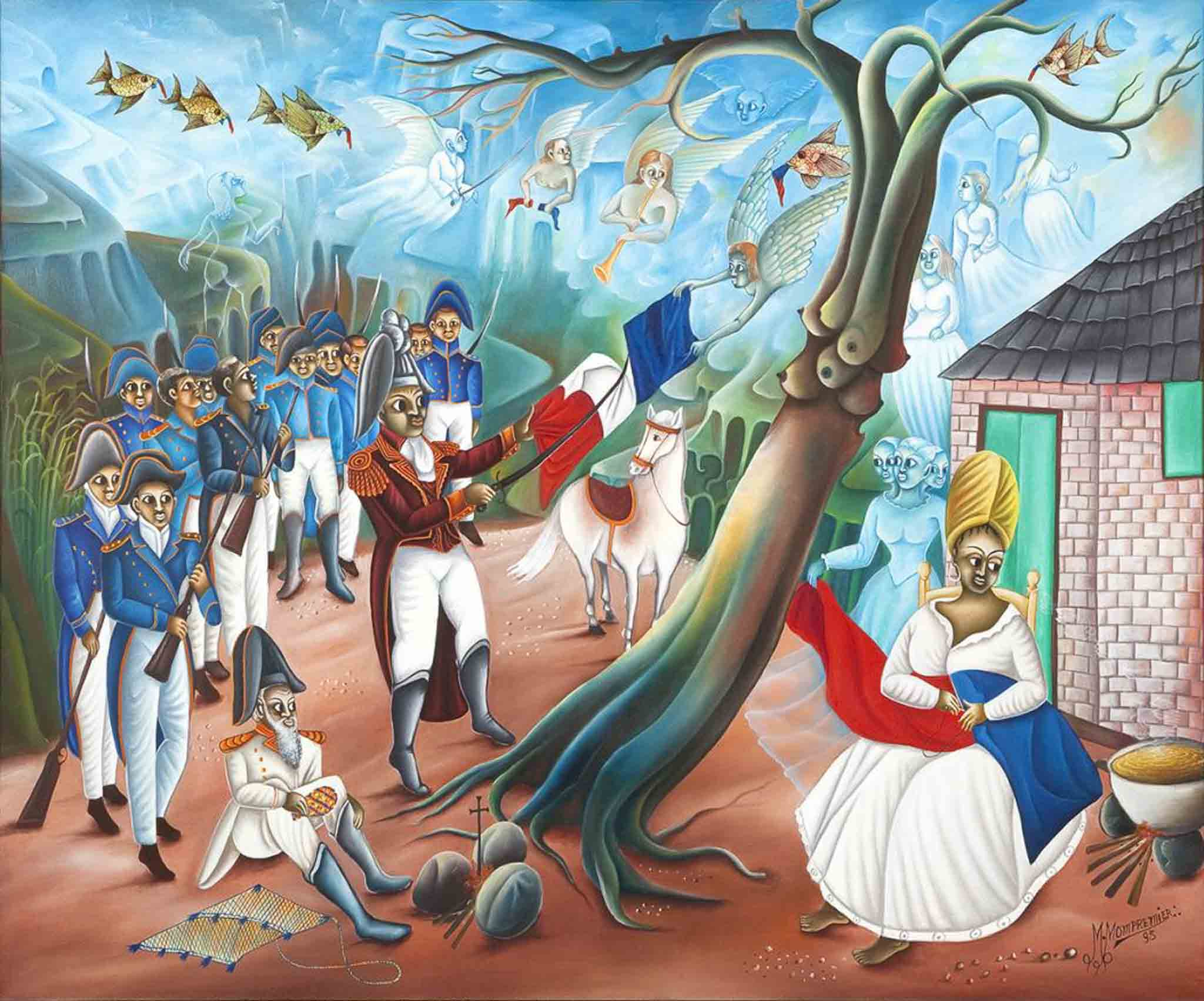 Dessalines Ripping the White from the Flag, 1995