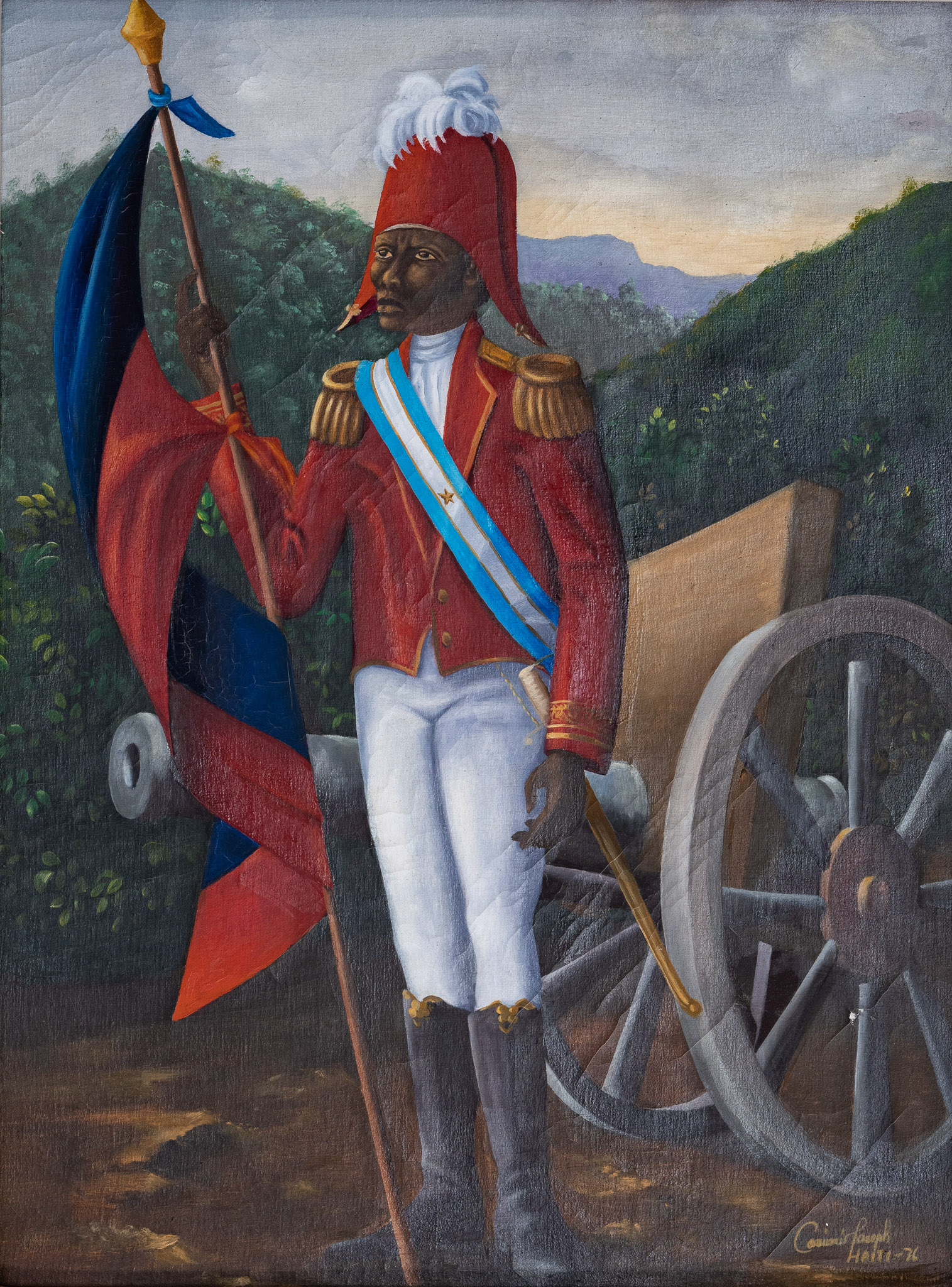 General Jean-Jacques Dessalines holding the Flag, 1976