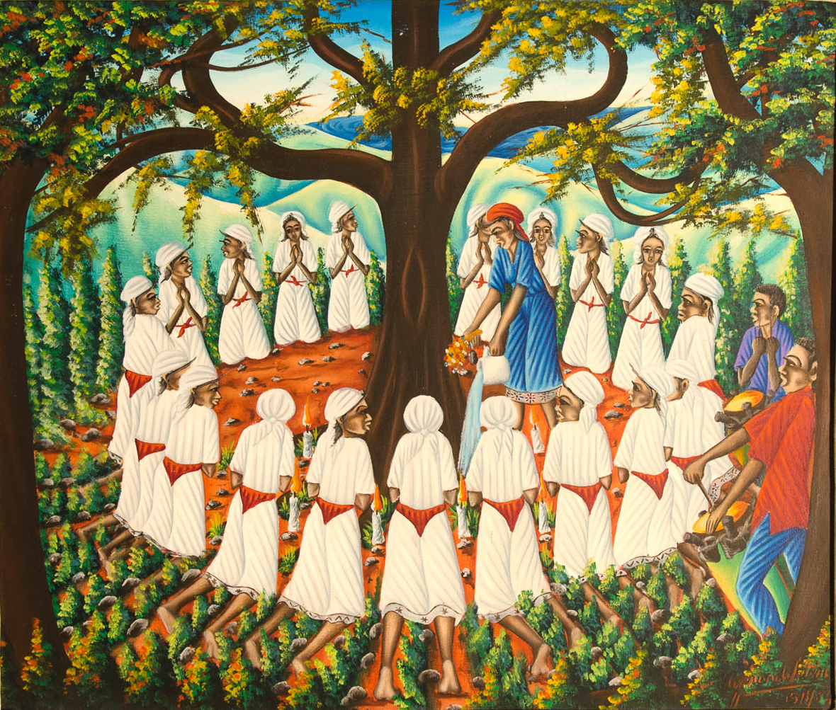 Vodou Ceremony around Tree, 1980s